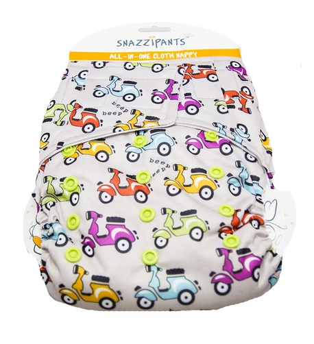 Brolly Sheets Snazzipants All in One Cloth Nappy Moped 4kg to 14kg