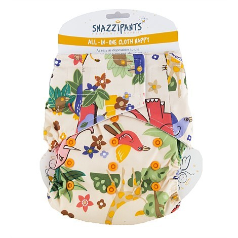 Brolly Sheets Snazzipants All in One Cloth Nappy Jungle 4kg to 14kg