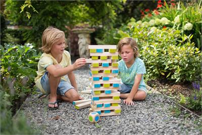 BS Toys Large Wooden Tower with Dice