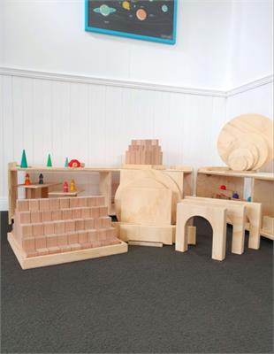 Wooden Blocks, Building Platforms and Archway Package