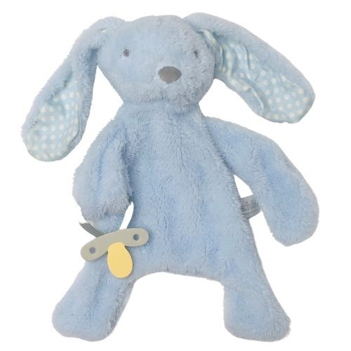 Bunny Comforter with Dummy Holder Blue