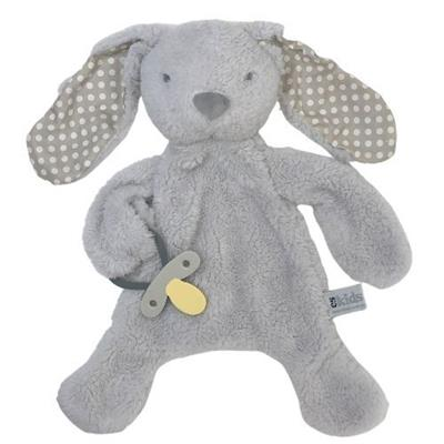 Bunny Comforter with Dummy Holder Grey