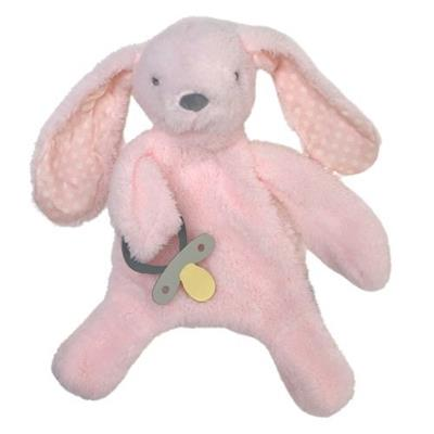 Bunny Comforter with Dummy Holder Pink