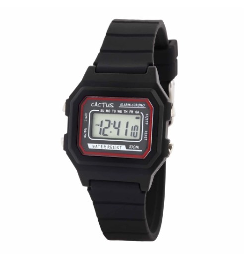 Cactus Dynamo Kids Digital Kids Watch - Black