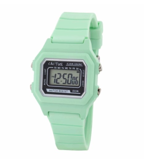 Cactus Dynamo Kids Digital Watch - Mint