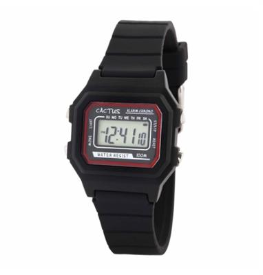 Cactus Dynamo Kids Digital Watch - Black
