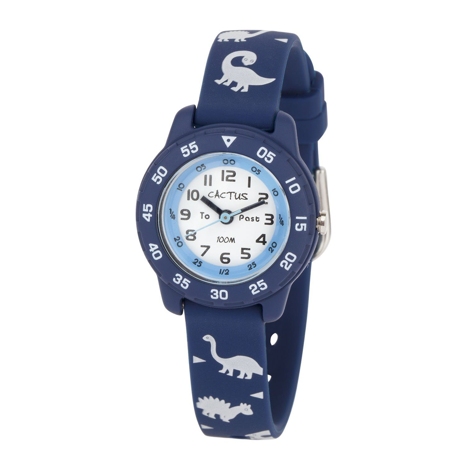 Cactus Junior Kids Time Teacher Blue Dinosaur Watch