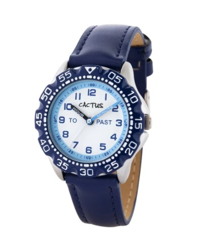 Cactus Master Kids Time Teacher Watch Blue
