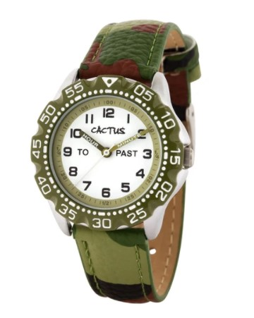 Cactus Master Kids Time Teacher Watch Camouflage