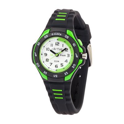 Cactus Mentor Time Teacher Watch Black