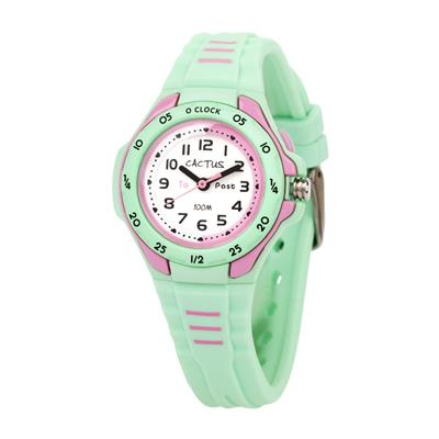 Cactus Mentor Time Teacher Watch Mint Green