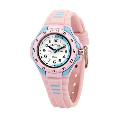 Cactus Mentor Time Teacher Watch Pink