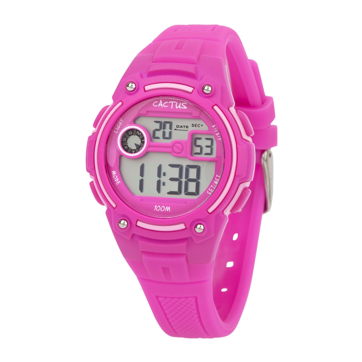 Cactus Rambler Digital LCD Watch Hot Pink
