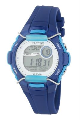 Cactus Shield Tech Time LCD Blue Digital Watch 94M03