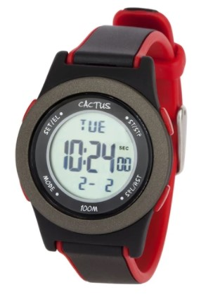 Cactus Shine Digital Watch - Black/Red trim