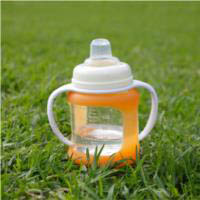 Cherub Baby Glass Baby Bottle - Wideneck 150ml (2pack) -shown with handle adapter sold separately