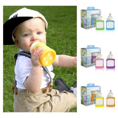 Cherub Baby Wideneck Glass Baby Bottle 150ml 2pack