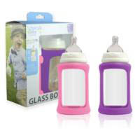 Cherub Baby Glass Baby Bottle - Wideneck 240ml (2pack)