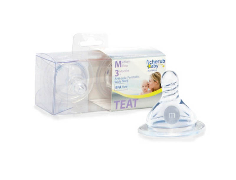 Cherub Baby-Wideneck Medium Flow Teats-2pk
