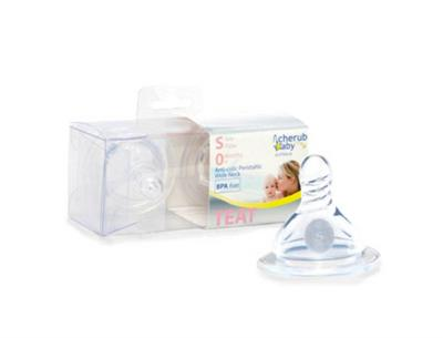 Cherub Baby Wideneck Slow Flow Teats 2pack