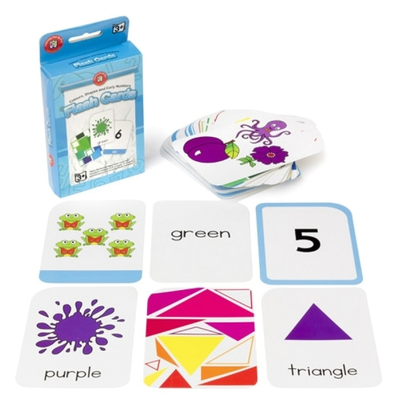 Colours, Shapes and Early Numbers Flash Cards