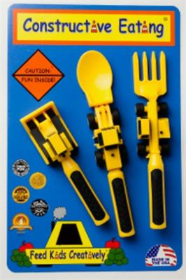 Construction 3-Piece Cutlery Set