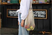 Cotton Net Long Handle Tote Bag