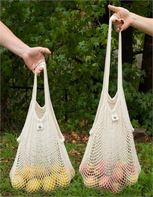 Cotton Net Long or Short Handle Tote Bag