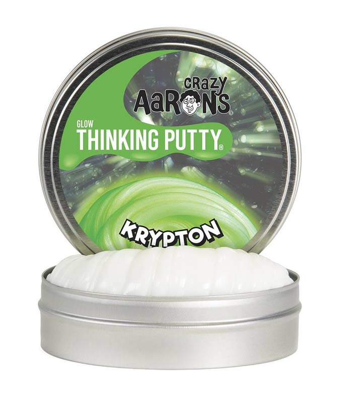 Crazy Aarons Glow Thinking Putty Krypton