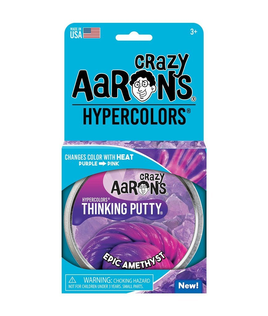 Crazy Aarons Hypercolor Thinking Putty Amethyst Blush