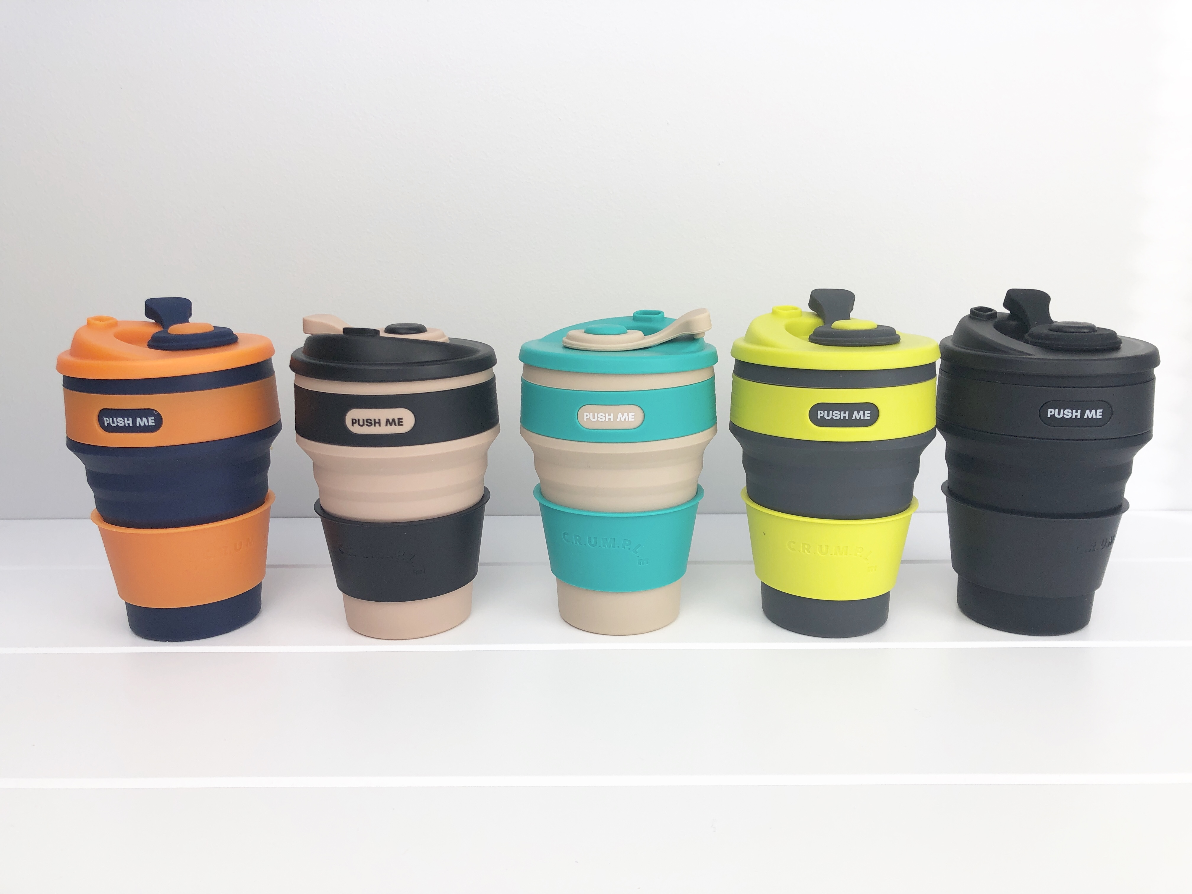 Crumple Collapsible Eco Coffee Cup 350ml