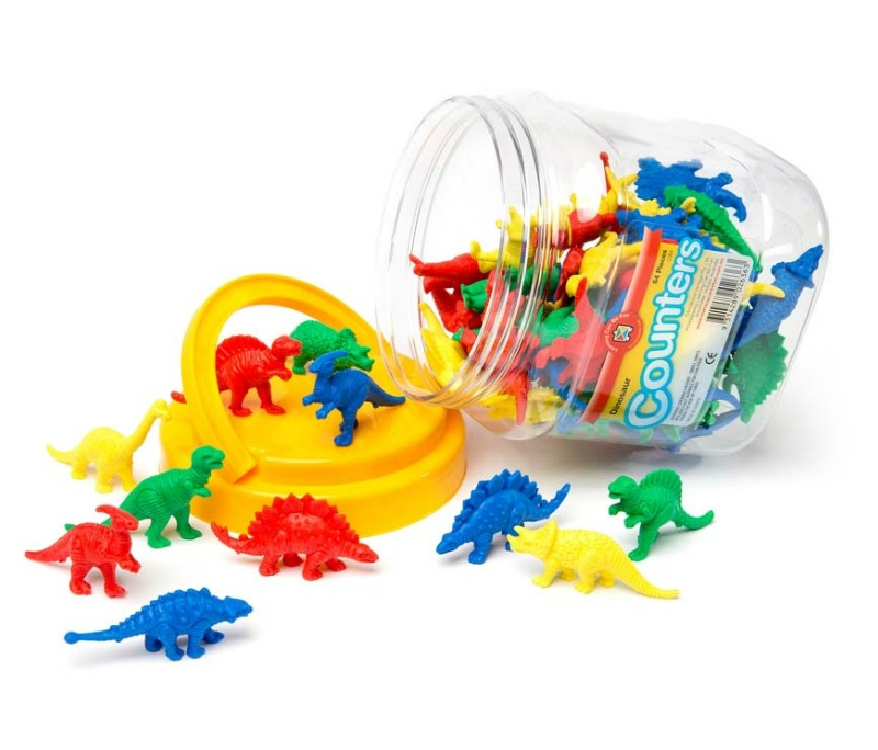 Dinosaur Counters Jar of 64