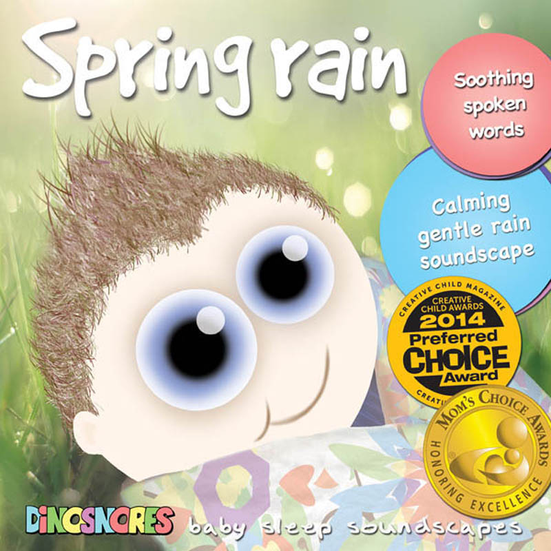 Dinosnores- Sleep CDs for Babies-Sleepy Soundscapes {Spring Rain}