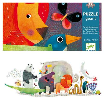 Djeco Animal Parade Giant Puzzle 36pcs
