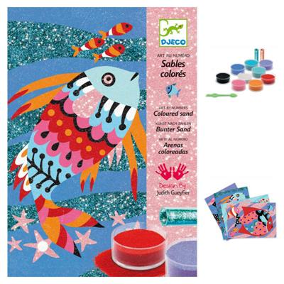 Djeco Coloured Sand Rainbow Fish