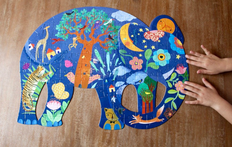 Djeco Elephant Art Puzzle 150pc