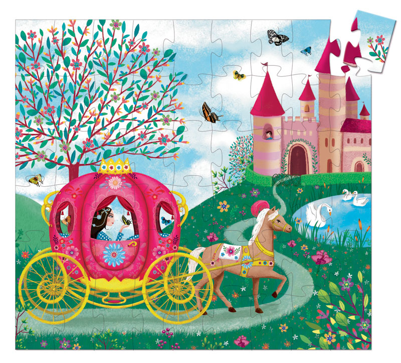 Elise's Carriage Silhouette Puzzle 54pc