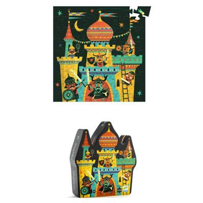 Djeco Fortified Castle Silhouette Puzzle 54pc