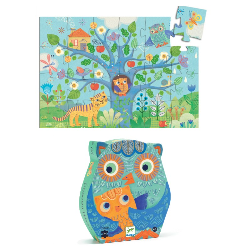 Djeco Hello Owl Puzzle 24pc