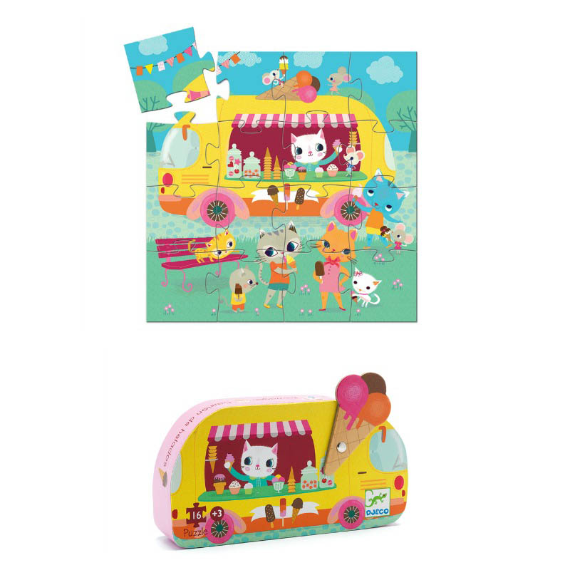 Djeco  - Ice cream Truck 16pc Puzzle