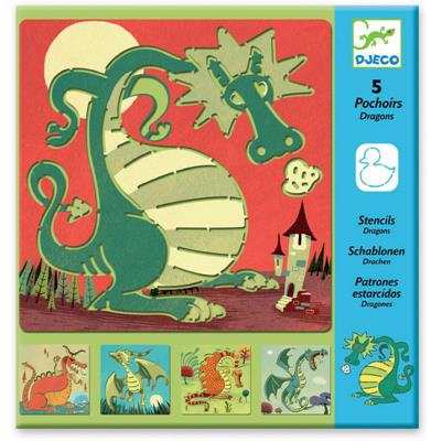 Djeco-Kids Art-Stencils {Dragons}