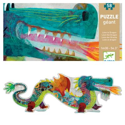 Djeco Leon the Dragon Giant Puzzle 58pcs