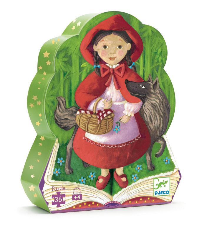 Kids Puzzles | Djeco Little Red Riding Hood Silhouette Puzzle 36pc