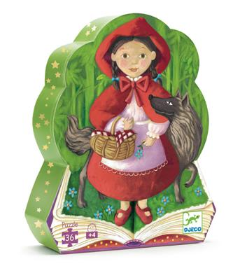 Djeco Little Red Riding Hood Silhouette Puzzle 36pc