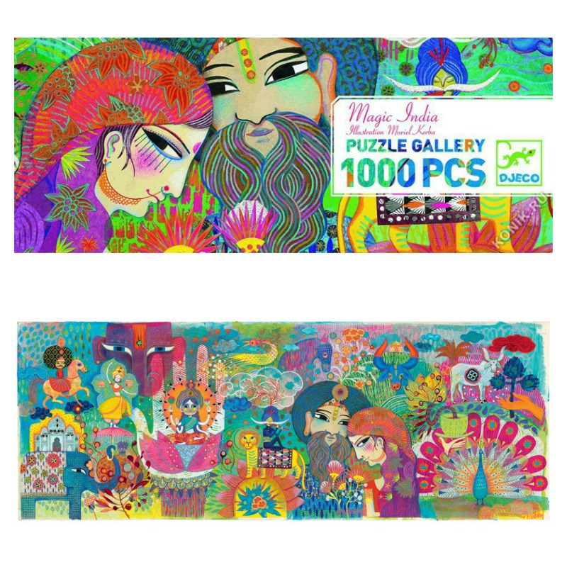 Djeco Magic India Gallery Puzzle 1000pcs