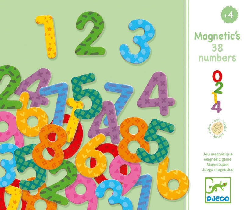 Djeco 38 Magnetic Numbers Set