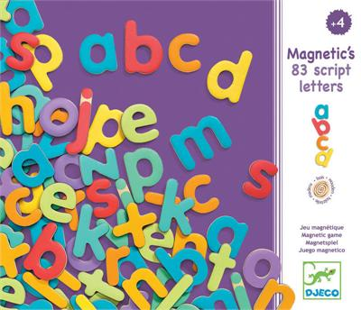 Djeco - Magnetic Lowercase Letters (83 pcs)
