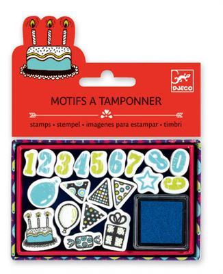 Djeco-Mini Stamp Pack-Birthday