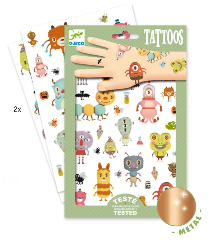 Djeco Monsters Tattoos