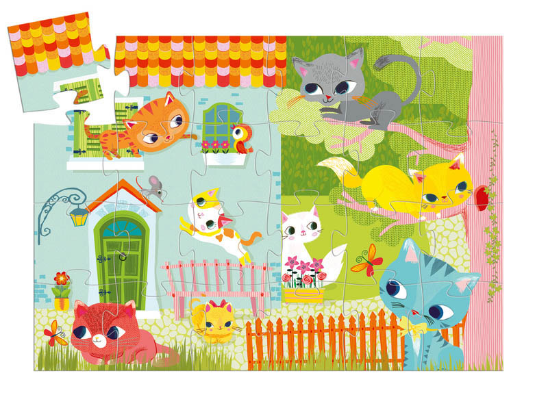 Djeco - Pachat the Cat and Friends 24pc Floor Puzzle